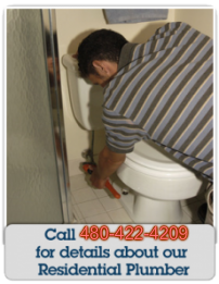 Call Us for details about our residential plumber