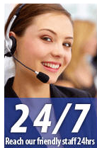 Reach our friendly staff 24hrs